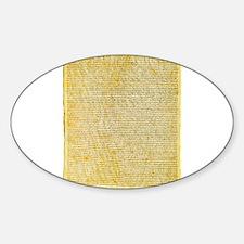 Magna Carta text Decal