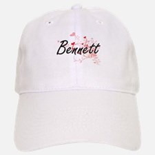 Bennett Artistic Design with Hearts Baseball Baseball Cap