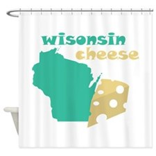 Wisconsin Cheese Shower Curtain