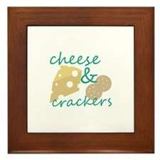 Cheese & Crackers Framed Tile