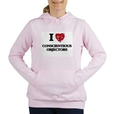I love Conscientious Obj Women's Hooded Sweatshirt