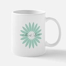 Cute Mint Floral Mug