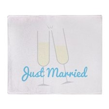 Just Married Throw Blanket