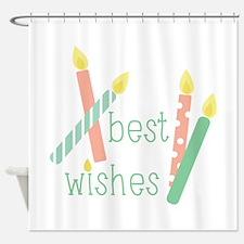 Best Wishes Shower Curtain