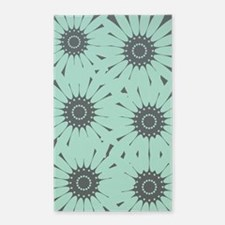 Cute Mint Floral Area Rug