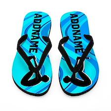 Number 1 Swimmer Flip Flops