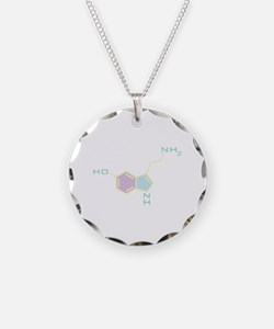 Serotonin Chemical Structure Necklace