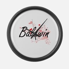 Baldwin Artistic Design with Hear Large Wall Clock
