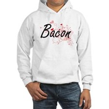 Bacon Artistic Design with Heart Hoodie