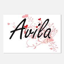 Avila Artistic Design wit Postcards (Package of 8)