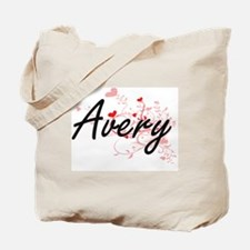 Avery Artistic Design with Hearts Tote Bag