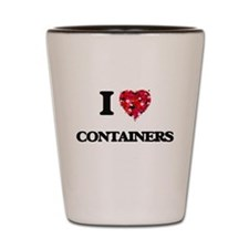 I Love Containers Shot Glass