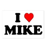 I Love Mike Postcards (Package of 8)