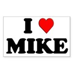 I Love Mike Rectangle Sticker