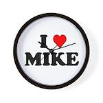 I Love Mike Wall Clock