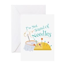 Scared Of Needles Greeting Cards