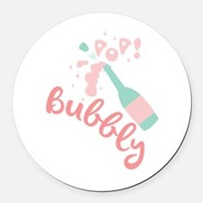 Champagne Bubbly Round Car Magnet