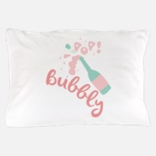 Champagne Bubbly Pillow Case