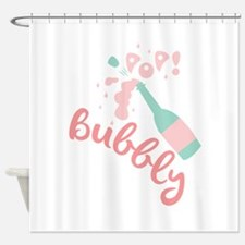 Champagne Bubbly Shower Curtain