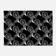 Black And White Damask Rugs Black And White Damask Area