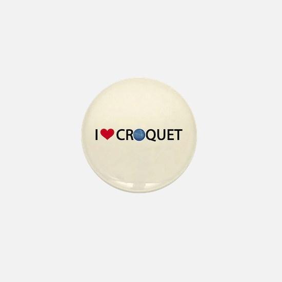 Love Croquet Mini Button