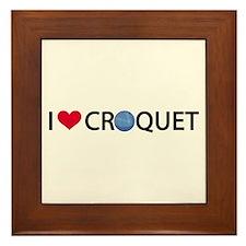 Love Croquet Framed Tile