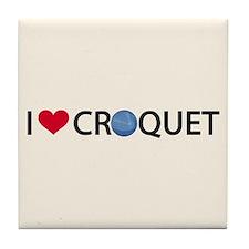Love Croquet Tile Coaster