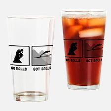 Ski Jumping Drinking Glass