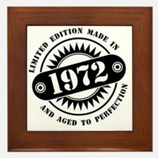 LIMITED EDITION MADE IN 1972 Framed Tile