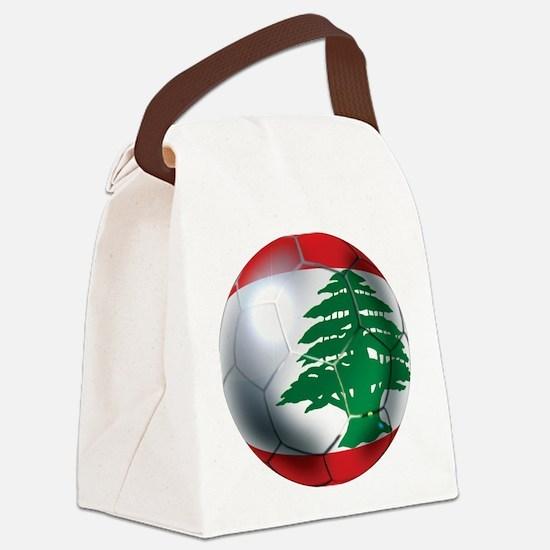 Lebanon Football Canvas Lunch Bag