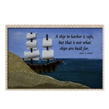 Ship in Harbor Original A Postcards (Package of 8)