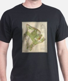 Vintage Map of Hawaii Island (1906) T-Shirt