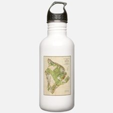Vintage Map of Hawaii Water Bottle