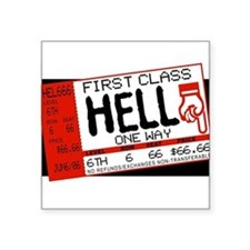 "Cute Dark humor Square Sticker 3"" x 3"""