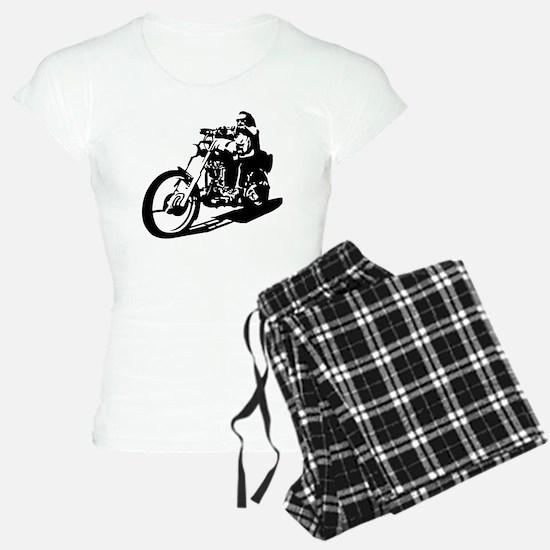 moto biker anarchy pajamas