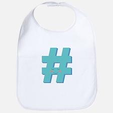 Cute Hashtag Bib