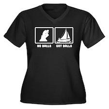 Sailing Women's Plus Size V-Neck Dark T-Shirt