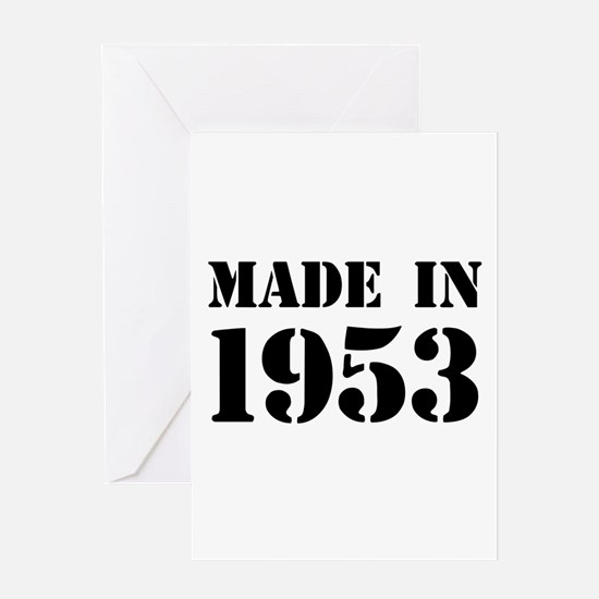 Made in 1953 Greeting Cards