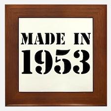 Made in 1953 Framed Tile
