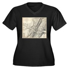 Vintage Map of Harpers Ferry (18 Plus Size T-Shirt
