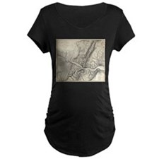 Vintage Map of Harpers Ferry (18 Maternity T-Shirt