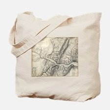 Vintage Map of Harpers Ferry (1863) Tote Bag