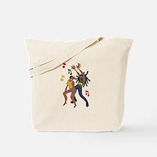 Jamaican Dancers Tote Bag