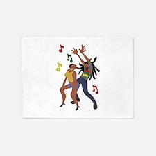 Jamaican Dancers 5'x7'Area Rug