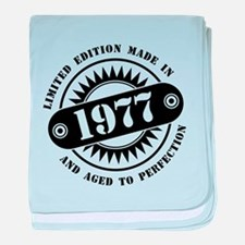 LIMITED EDITION MADE IN 1977 baby blanket