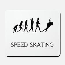 Speed Skating Evolution Mousepad