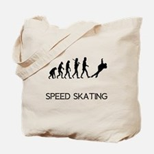 Speed Skating Evolution Tote Bag