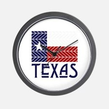 Chevron Texas Wall Clock