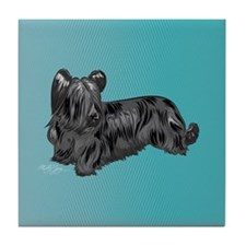 Skye Terrier, Black Tile Coaster