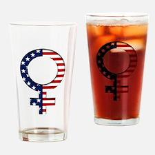 Female Patriot Drinking Glass